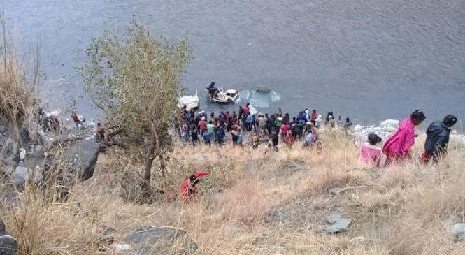 बाजुरामा जिप दुर्घटना,४ जना मृतकको सनाखत, घाइतेलाइ हेलिकप्टर मार्फत कोहलपुर लगियो
