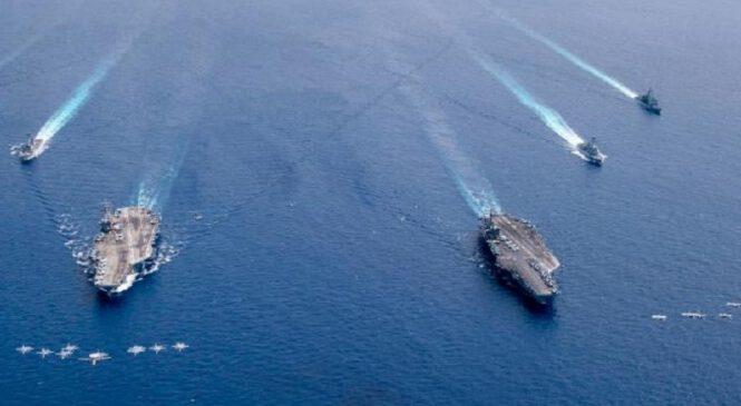 दक्षिण चीन सागरमा अमेरिकी एअरक्राफ्ट क्यारियर, तनाव बढ्यो