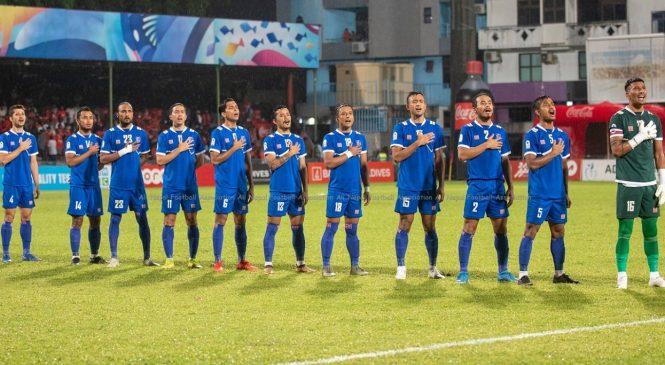 साफ च्याम्पियनसिप फुटबलमा नेपाल र भारत खेल्दै